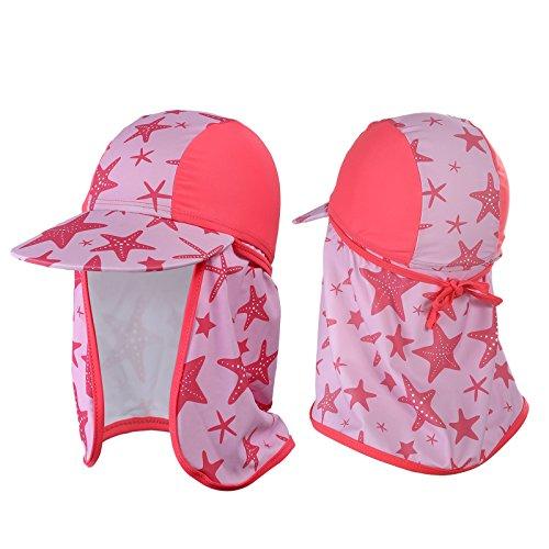 WELROG Kind Klappe Hut Sonnenhut - Sonne Schutz Schwimmen Strand Sonnenkappen zum Jungen und Mädchen (Rosa)