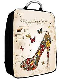 """Luxburg® 17"""" pouces Sac à dos de luxe pour ordinateur portable avec poignée en métal"""