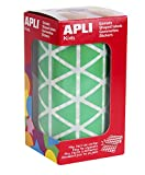 APLI Kids - Rollo de gomets triangulares 20,0 mm, color verde