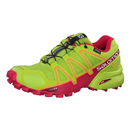 Salomon Damen Speedcross 4 GTX Traillaufschuhe, Grün (Lime Green/Virtual Pink/Bird of Par 000), 37 1/3 EU