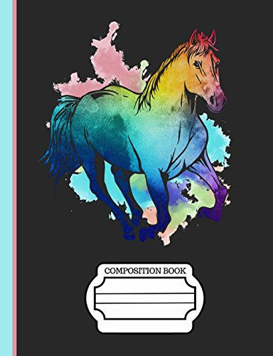 Running Horse Watercolor Composition Notebook: Journal for School Teachers Students Offices - 4x4 Quad Rule Graph Paper, 200 Pages (7.44