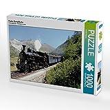 CALVENDO Puzzle Furka Dampfbahn 1000 Teile Lege-Größe 64 x 48 cm Foto-Puzzle Bild von André Bujara (CALVENDO Mobilitaet)