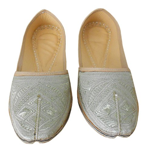 kalra Creations hommes Chaussures pour Homme en Cuir traditionnel Indian Groom Crème