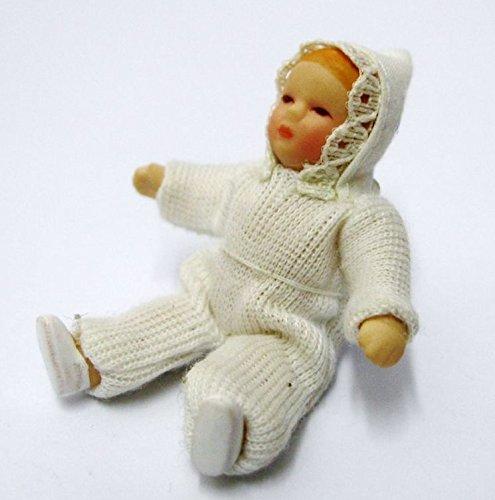 Puppe Baby 6 cm für die Puppenstube Puppenhaus Miniatur 1:12 Porzellan Puppe Baby