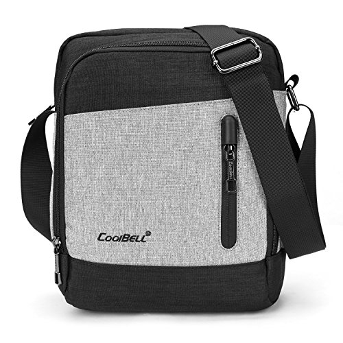 Coolbell Casual Borsa a tracolla Cross Body Borsa Satchel Bag Student Messenger Bag Adatta 10,6 pollici Tablet/iPad, nero