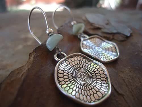 ✿ BOHO MANDALA etno STONE ✿ orecchini gancio lungo