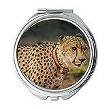 Yanteng Spiegel, Compact Mirror, Afrika Tier Gepard, Taschenspiegel, Tragbare Spiegel