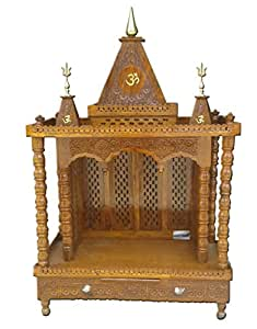 Wooden Temple / Home Mandir / Fully Folding / Sheesham Wood / Traditional Carving / Handmade by Aarsun