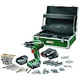 Bosch 0603954308 PSR - Juego de taladradora/atornilladora inalámbrica, 2 baterías y caja de herramientas (14,4 V, litio)
