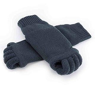 ArturoLudwig Grau Zehenspreizer Socken Zehentrenner Pediküre Fuß Massage Wellness Socken - Größe: von 34 bis 43 by
