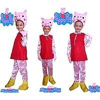 Disfraz De Peppa Pig cerdito años 2-3 tamaño 2 Dibujos animados de cerdo Porcellina niños de las muchachas Girls Girls Girls
