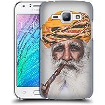 Officiel Luke Gram L'Inde II Peinture De Portrait Étui Coque D'Arrière Rigide Pour Samsung Galaxy J1