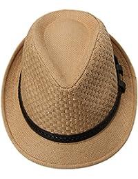 EOZY Sombrero de Jazz Gorro Paja de Panamá Verano Unisex