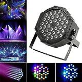 JUDYelc LED Bühnenlicht Tanzfläche Beleuchtung, 36 LED Par Light Bühne Licht Disco Licht 7 Farben Lichter mit 4 Arbeitsmodellen RGB Poweful Bühnenlampe für DJ Club Hochzeit Party Feier