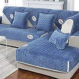 Sofa Handtuch, Sofakissen Winter Universal Plüsch Stoff Einfache Pastorale Moderne Europäische Wohnzimmer Vier Jahreszeiten Kombination Sofa Handtuchbezug
