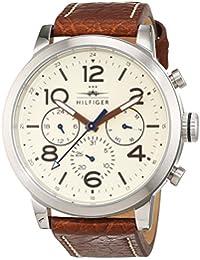 Tommy Hilfiger Herren-Armbanduhr Casual Sport Analog Quarz Leder 1791230