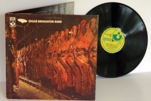 EDGAR BROUGHTON BAND self titled. GREAT COPY. RARE. First UK press 1970. Matrix A-4, B-4. THE GRAMAPHONE COMPANY written on label rim, on green EMI Harvest records.