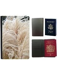 Passeport Voyage Couverture Protector // M00156447 Espadaña de hierba de trigo Naturaleza // Universal passport leather cover