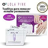 O³ Removedor Esmalte Permanente 200 Unidades - Quitaesmalte Permanente | Cleaner Uñas Gel - Cleaner Uñas Semipermanente... de Lola Pink