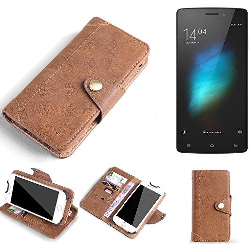 K-S-Trade Hülle für Cubot X12 Schutz Hülle Tasche Handyhülle Schutzhülle Handytasche Wallet case Flipcase Cover Kunstleder Braun