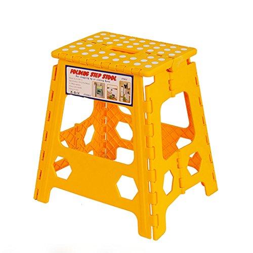 C&S CS Hoher faltender Schemel-tragbarer Reise-Klappstuhl im Freien, Kindertagesstätten-Stuhl und verdickender Plastikstuhl für Kinder (Color : Yellow) -