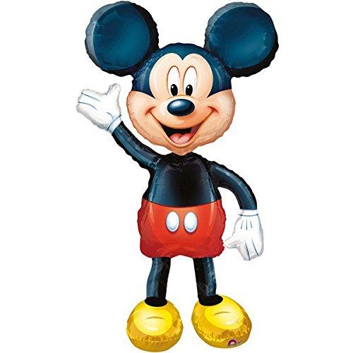 Folienballon AIRWALKER - MICKY MAUS XXL 100cm, Luftballon für Kinder + PORTOFREI mgl + Geschenkkarte + Helium & Ballongas geeignet. High Quality Premium Ballons vom Luftballonprofi & deutschen Heliumballon Experten. Ideales Geschenk für Kinder und Ballon Deko zum Kindergeburtstag (Mickey-mouse-geburtstags-zahlen)