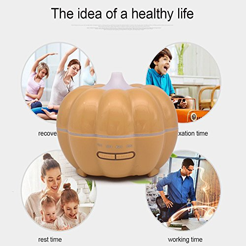 Aroma Diffuser Luftbefeuchter Ultraschall Oil Düfte Humidifier Aromatherapie Ätherischesöl Vernebler LED Lichter Grain Home verstellbarer Nebel Modus Luftreiniger USB Powered Mini And Portable 350ml