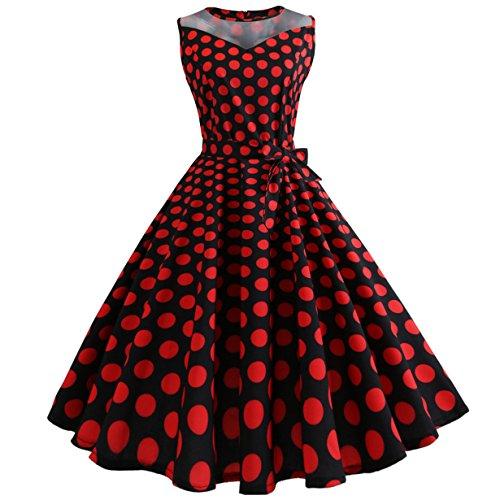 50er Vintage Kleider, Loveso ❤️ Damen Vintage Polka -