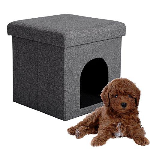 EUGAD Taburete Casa Perros Gatos Plegable Caseta Perros
