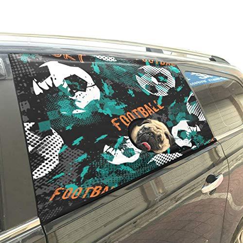 Garçon Jeu Amusant Football Football Chien Sécurité Voiture Imprimé Fenêtre Clôture Rideau Barrières Protecteur pour Bébé Enfant Réglable Flexible Soleil Shade Cover Universal Fit pour SUV