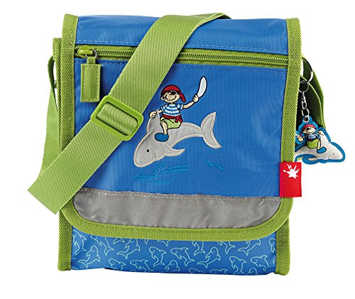 sigikid, Jungen, Kindergartentasche mit Piratenmotiv, Sammy Samoa, Blau/Grün, 23150