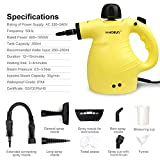 H·HOSUN Classic Multifunction Handheld Steam Cleaner with Child Lock, 9-Piece Accessories for Stain Removal,Bed Bug Control,Carpets,Car Seats, 1050W, UK Plug ★★★buy NOW get 10%~15% deduction★★★