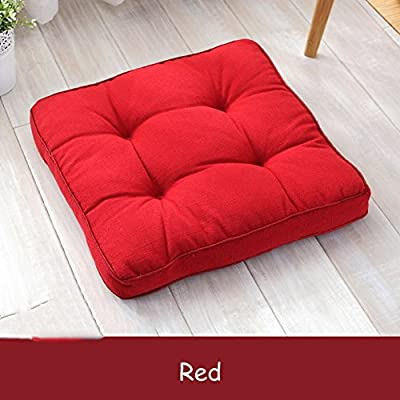 Cotton and linen Square Chair Pad Floor Living Room Cushion Pillow,Thicken Meditation Yoga Chair Seat Office Pad Tatami Carpets Cushion