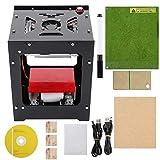 Zetiling Imprimante de graveur de 1500mw La-ser, NEJE DK-BL 490x490 Pixels Haute résolution Art Craft Science Industrie Haute Vitesse Gravure Gravure Cutter Mini USB Carver Machine...