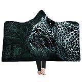 3D Animal Print Super Weiche, Flauschige Decke,Kinder Erwachsene Mit Kapuze Decke,Reise Camping...
