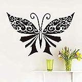 Zbzmm Wallsticker Home Bedroom Big Black Butterflies Wall Sticker DIY Removable Decals Vinyl Art Wallpaper for Bedroom Headboard Vintage Home Decor 59 * 38Cm