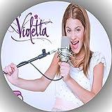 Premium Esspapier Tortenaufleger Geburtstag Violetta T4