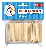 Dohe 18106 - Pack de 500 palitos de madera