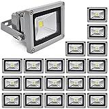 20X 10W Projecteur LED économisant l'energie Lumières extérieur / intérieur Spot Light 85-265V IP65 lampes d'extérieur, blanc froid