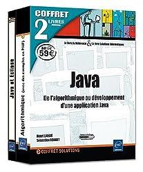 Java - Coffret de 2 livres : de l'algorithmique au développement d'une application Java