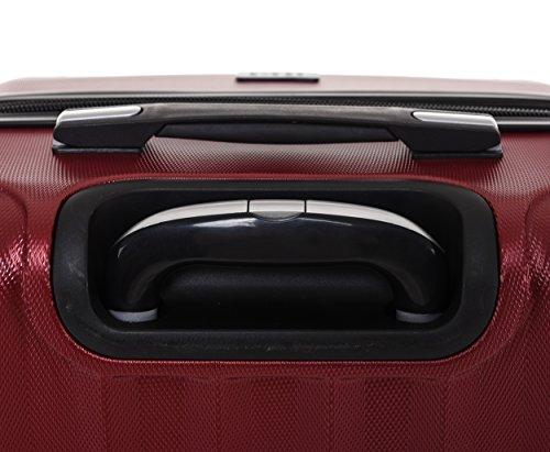 TSA-Schloß 2080 Hangepäck Zwillingsrollen neu Reisekoffer Koffer Trolley Hartschale XL-L-M(Boardcase) in 12 Farben (Weinrot, Set) - 6