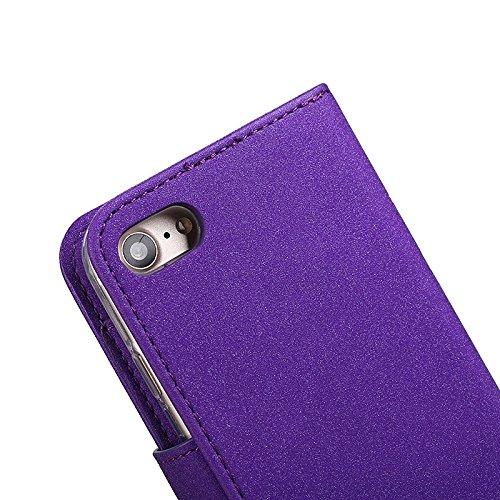 Abnehmbare 2 in 1 Premium PU + TPU Ledertasche geprägt Blumen Stil Glitzer Sparkles Brieftasche Stand Case Cover mit Kreditkarte Slots & Lanyard & Magnetic Closure für iPhone 6 & 6s ( Color : Black ) Blue