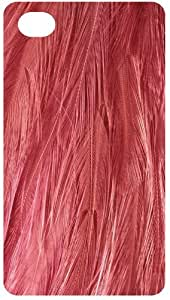 Pink Feather Pattern Back Cover Case for Apple iPhone 4 / 4s
