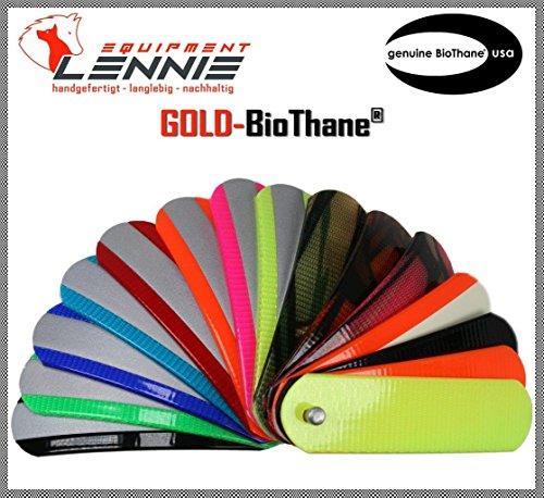 BioThane® Meterware, Gold Standard, 13-38 mm breit, ca. 2,5 mm dick, viele Farben, 25mm, Grün-Camouflage