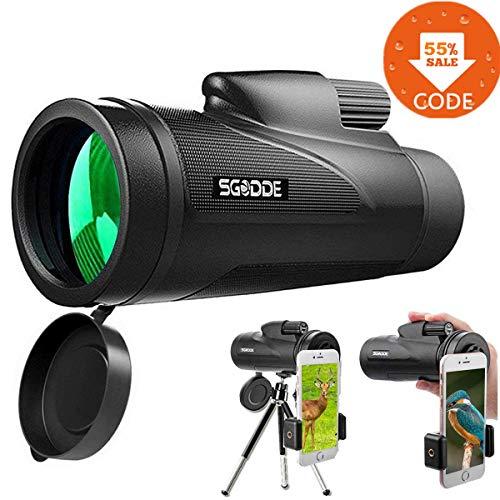 Telescopio Monocular 12 x 50, SGODDE Alto Rendimiento HD Military Mini Visión Nocturna...