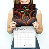 Art Calendar 2018 - Includes Inspiring Quotes - Monthly and Yearly View - Premium Wall Calendar
