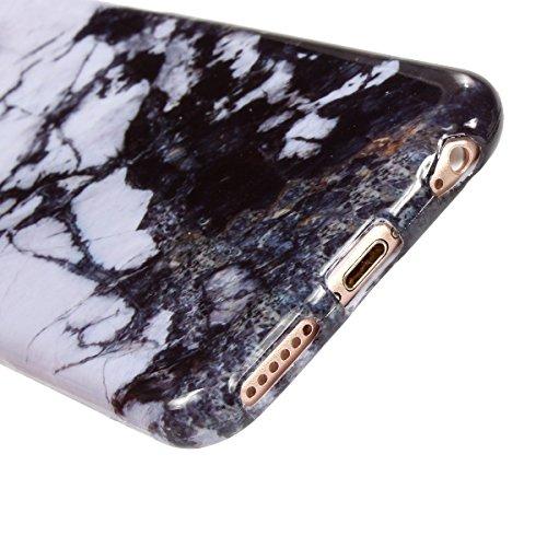 iPhone 6Marble Case, vioela Cool [Perfect Fit] Ultra Morbido Silicone TPU glaezende marmo pietra del reticolo di struttura flessibile in gomma Custodia Back Cover per Apple Iphone 66S 4.7inch with  Dark Ink