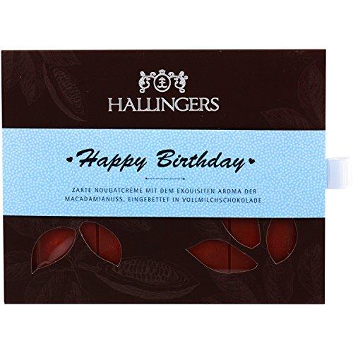 Hallingers Tafel Happy Birthday Boy, Vollmilch | Tafel-Karton | 90g