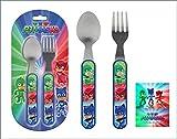 Kids Stainless Steel Cutlery Set Spoon and Fork Disney P J Masks