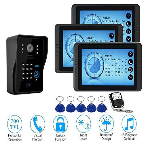 Sistema de timbre de video,timbre de intercomunicador con cable,timbre de video de...